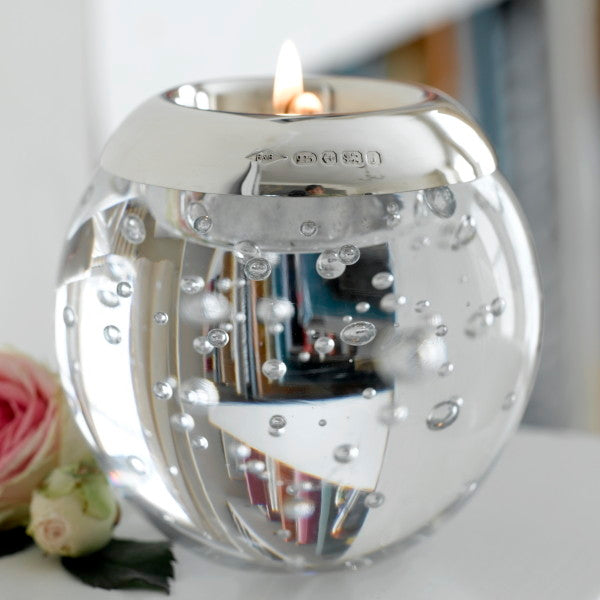 Crystal Sphere Tealight Holder