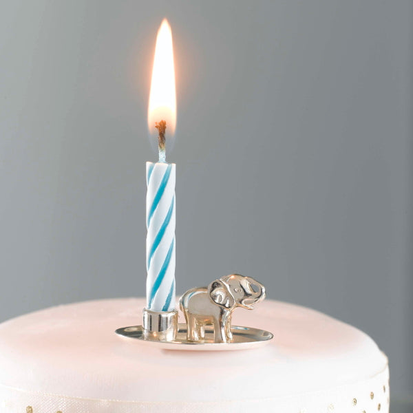 Jumbo Silver Birthday Candle Holder