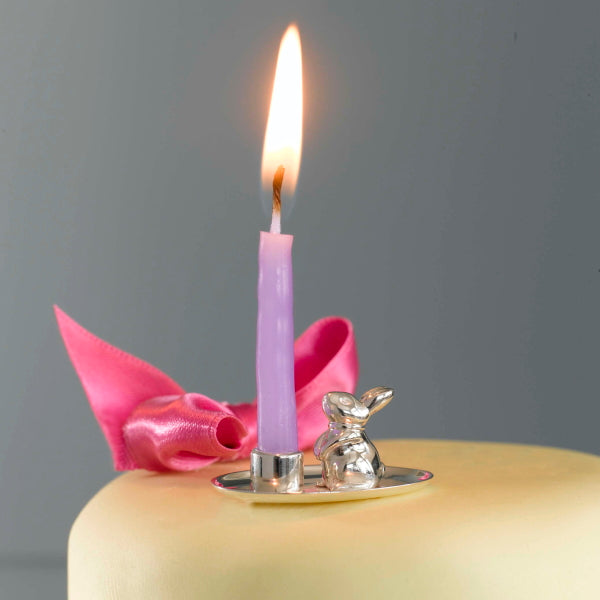 Bunny Silver Birthday Candle Holder