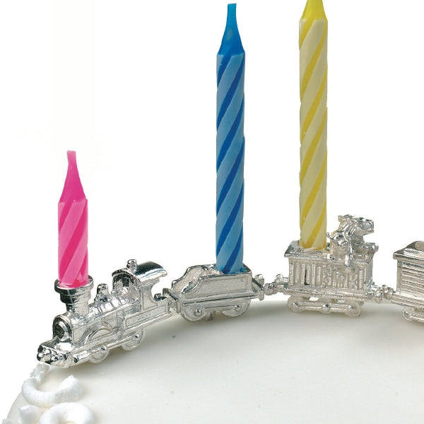 Circus Train, Tender & Monkey Carriage Birthday Candleholder Set