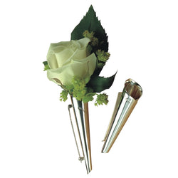 Boutonniere Sterling Silver Lapel Vase (Brooch style)