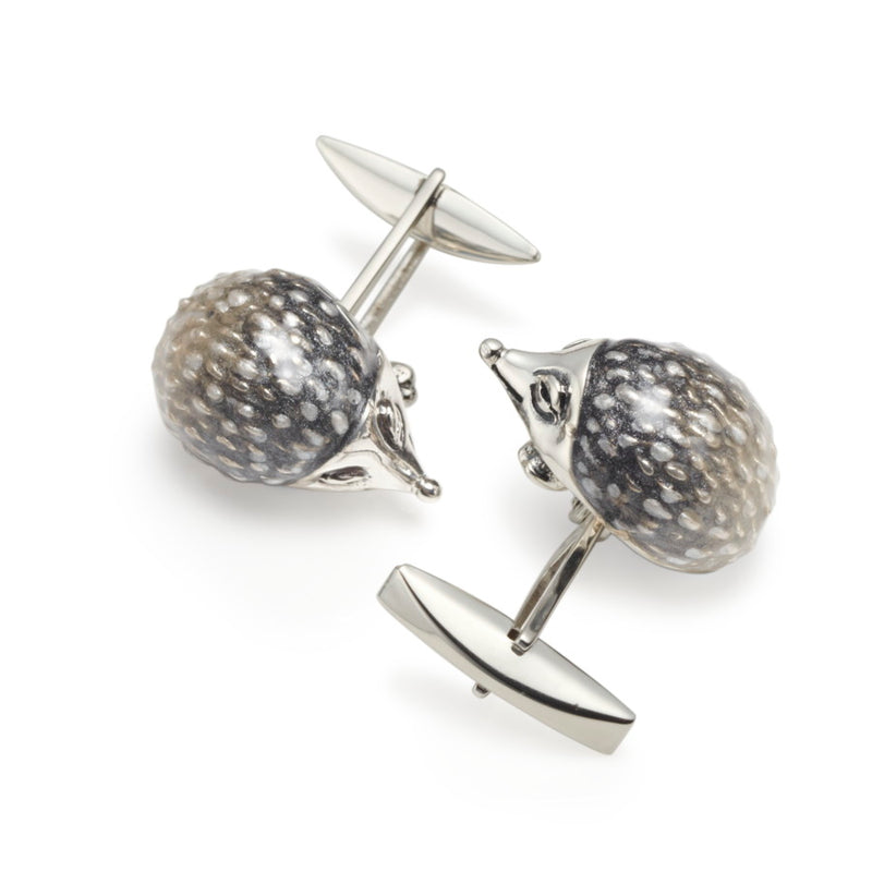 Hedgehog Silver & Enamel Cufflinks