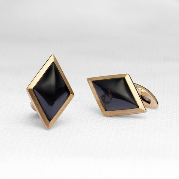 Ace 9ct Gold & Onyx Cufflinks