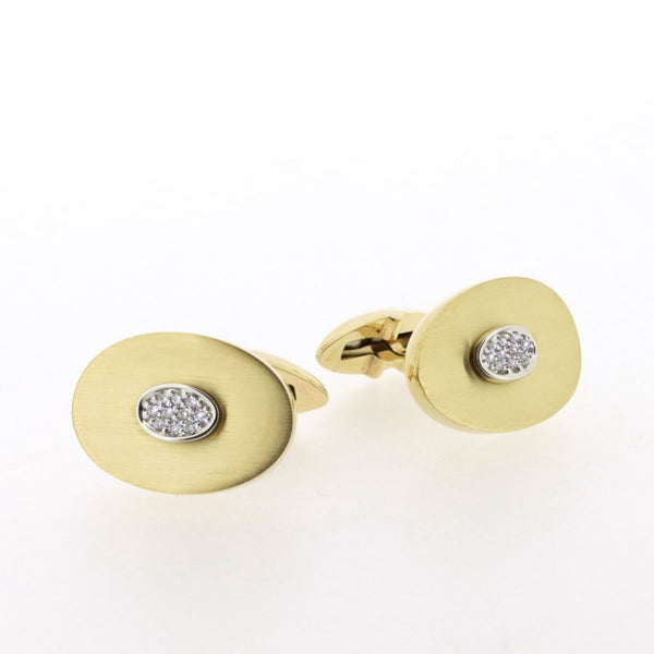 Romano 9ct Gold & Diamond Cufflinks