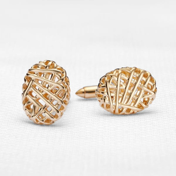 Weaver 9ct Gold Cufflinks