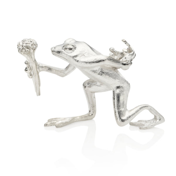 Prince Charming Sterling Silver Frog