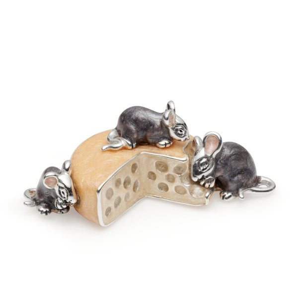 The Fromage Family Silver &  Enamel Cheese Model