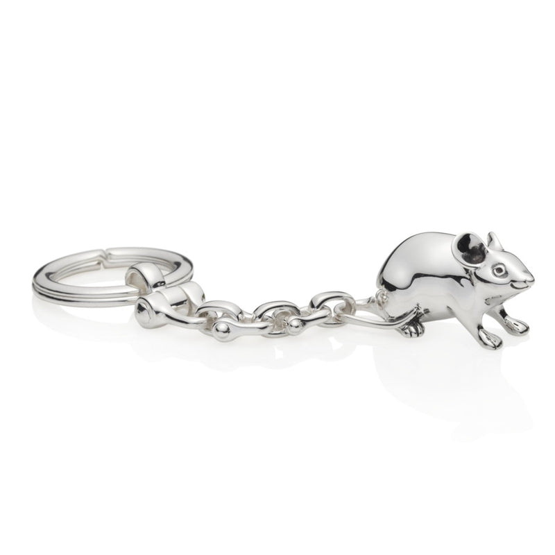 Jerry Sterling Silver Mouse Keyring
