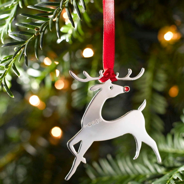 Rudolph Sterling Silver Christmas Decoration