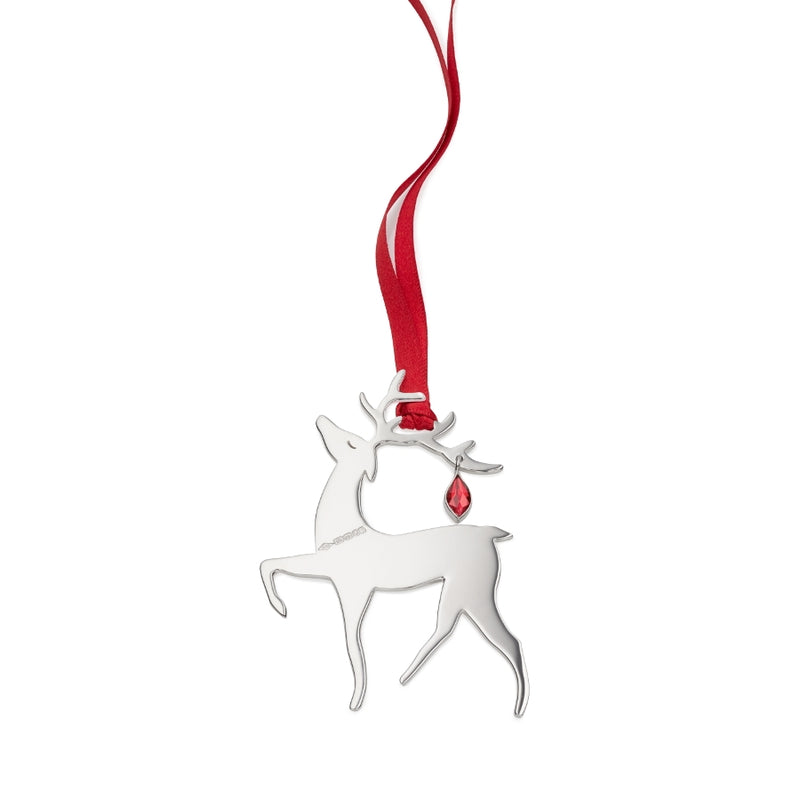 Vixen Reindeer Sterling Silver Christmas Decoration
