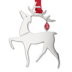 Sterling Silver Reindeer Christmas Tree Decoration with English Hallmarks with engraving