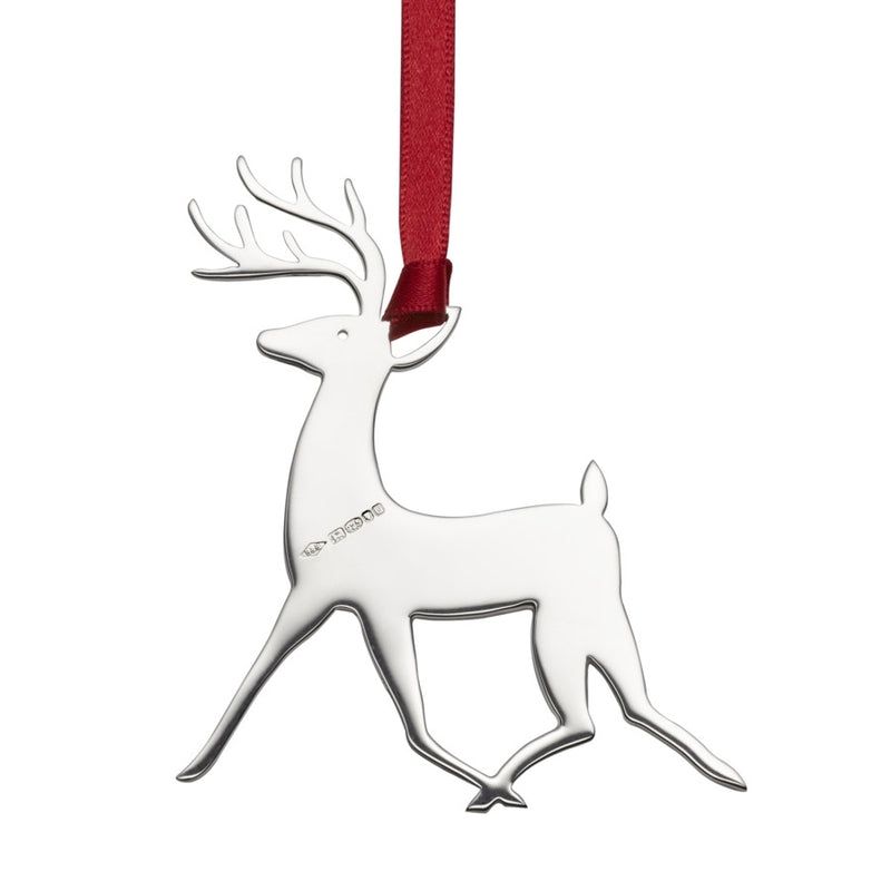 Donner Reindeer Sterling Silver Christmas Decoration