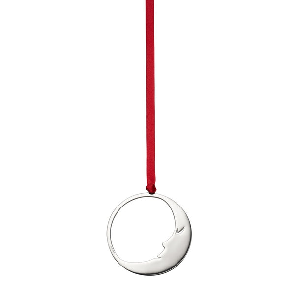 Man in Moon Sterling Silver Christmas Decoration