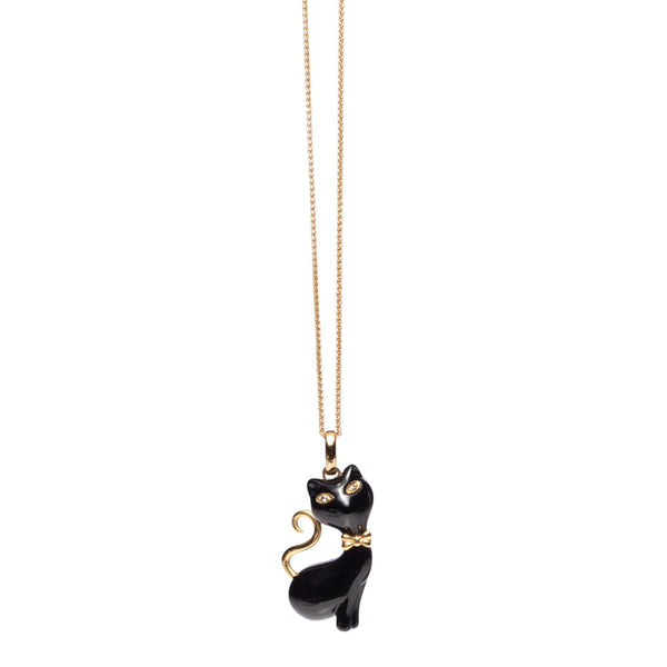 Princess FiFi Onyx 18ct Gold & Diamond Pendant