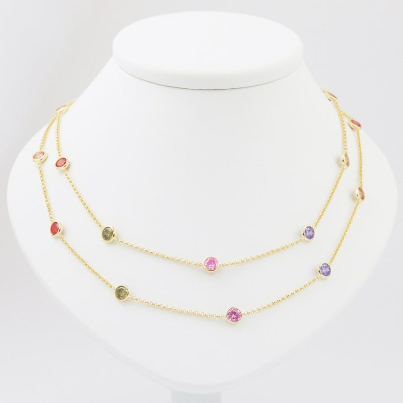 Candice Gilded Silver & CZ Necklace