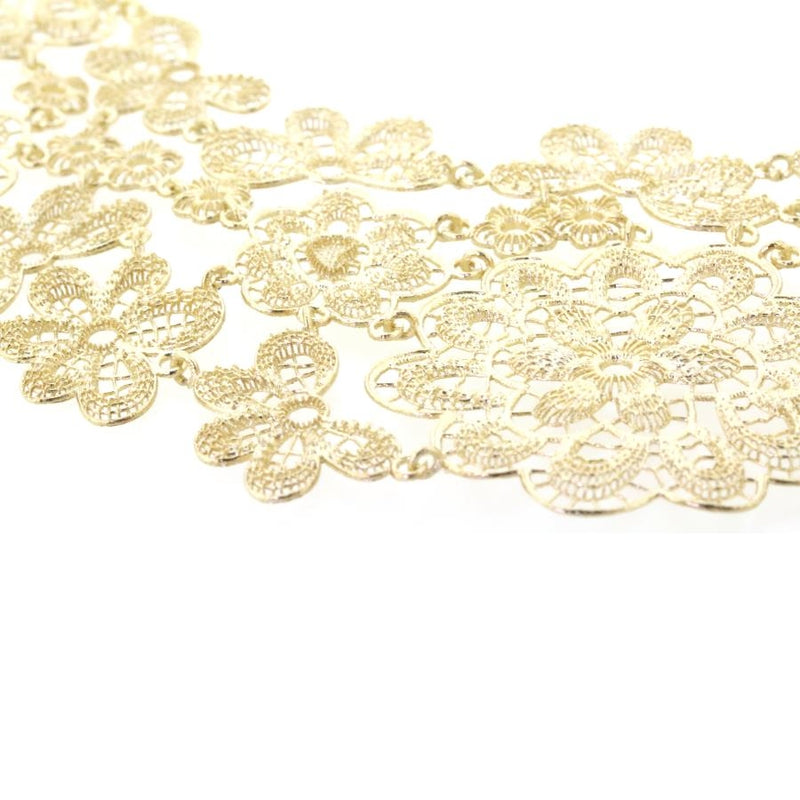 Grace Gilded Silver Lace Necklace/Collar