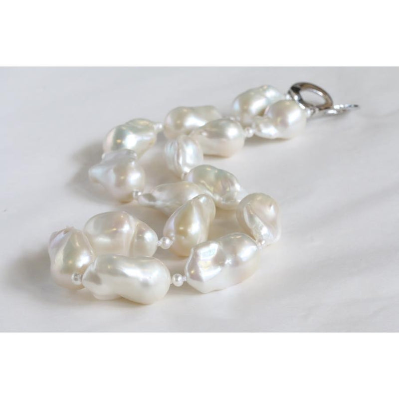 Cathay Large 20mm to 25mm Baroque Pearl Necklace