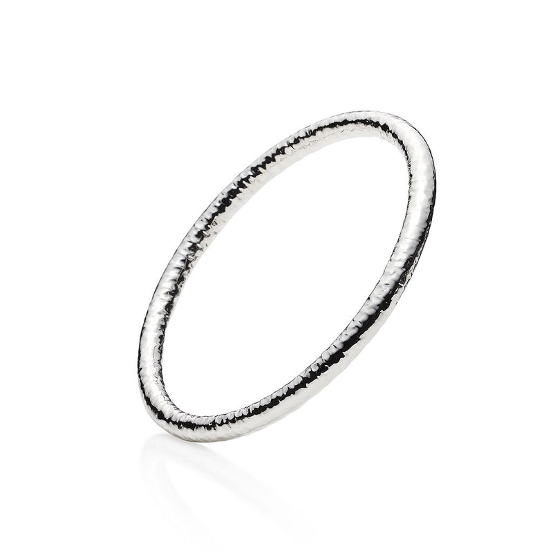 Chios Sterling Silver Bangle