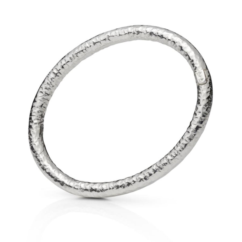 Delos Sterling Silver Hinged Bangle