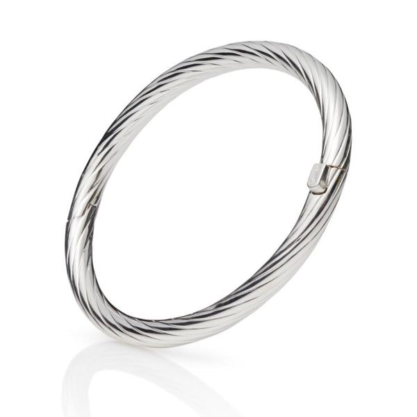 Naxos Sterling Silver Hinged Bangle