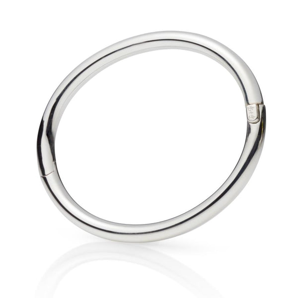 Paros Sterling Silver Hinged Bangle