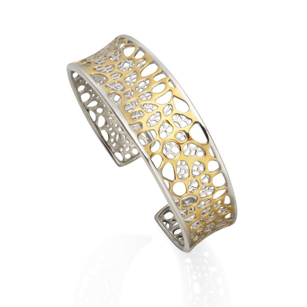 Champagne Gilded Silver Bangle