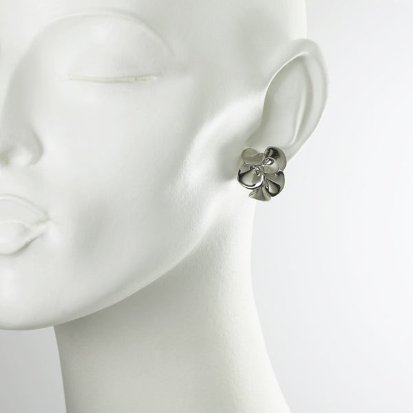 Gardenia Sterling Silver Earrings