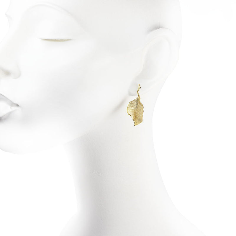 Betula Gilded Leaf Earrings