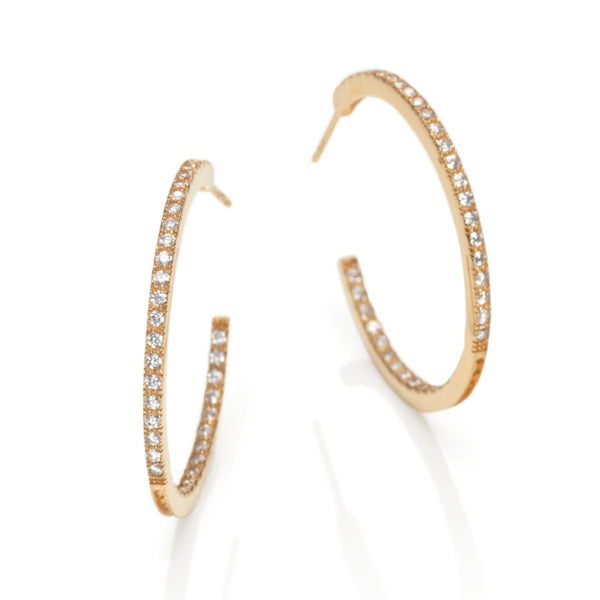 Carousel Gilded Silver & CZ Hoop Earrings