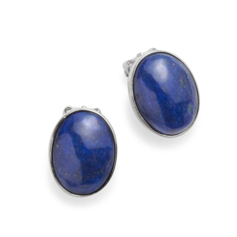 Lapis Lazuli Clip on Earrings