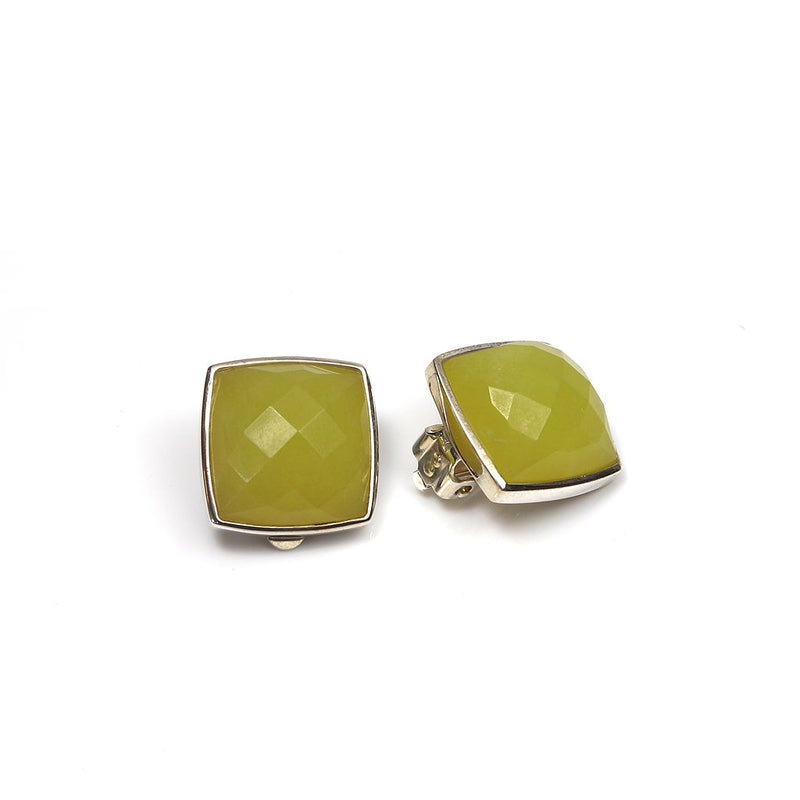 Faceted Serpentine Clip on Earrings CLEARANCE save £40