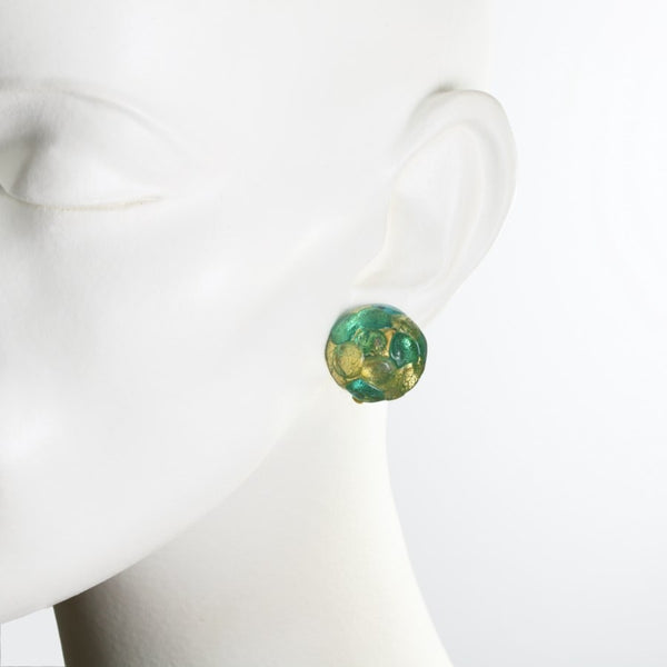 Capri Murano Glass Clip on Earrings