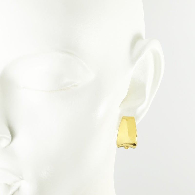 Corvette Gilded Silver Clip On Earrings