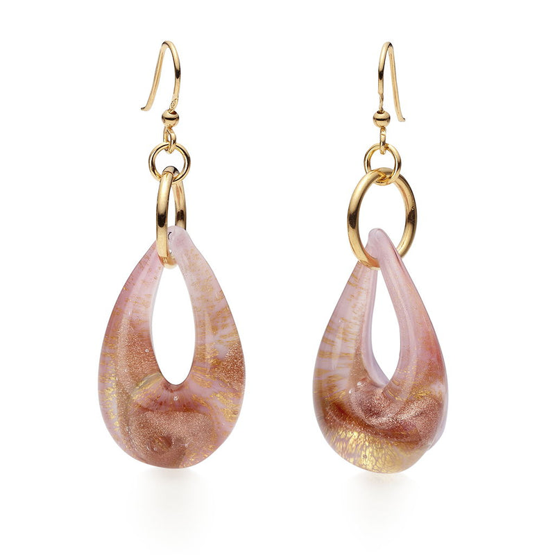 Saffrose Murano Glass Earrings