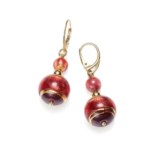 Rubino Murano Glass Earrings