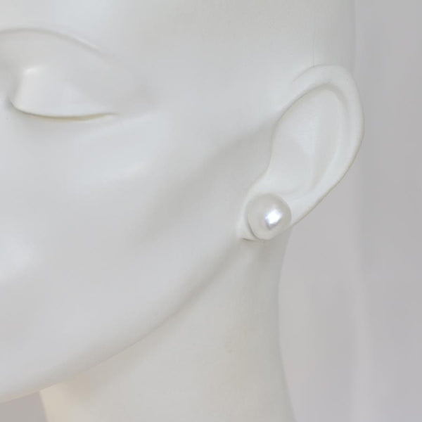 Cathay Large Baroque 11mm to 13mm Pearl Studs