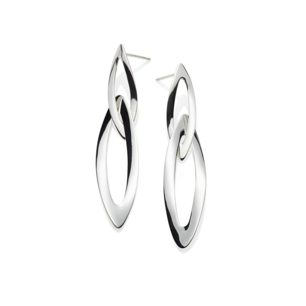 Ravelle Sterling Silver Long Earrings