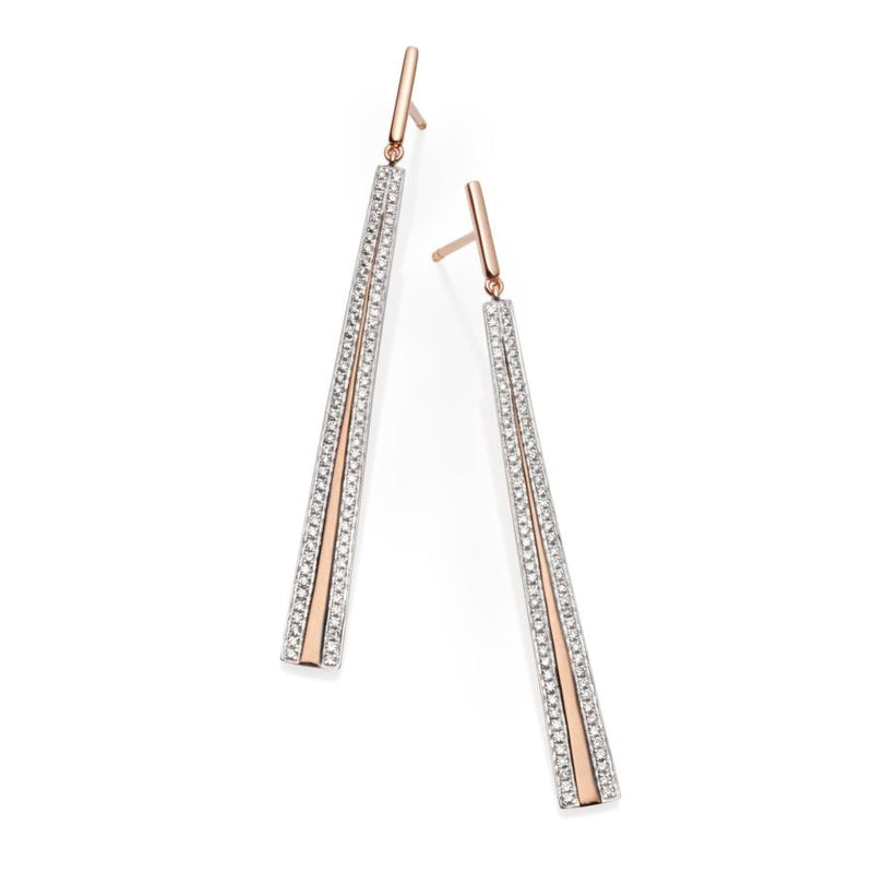 Vendome Diamond &18ct Rose Gold Earrings
