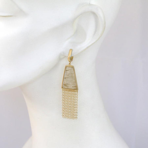 Lambada Rutilated Quartz Earrings