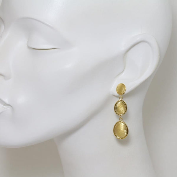 Roma Gilded Silver Long Drop Earrings