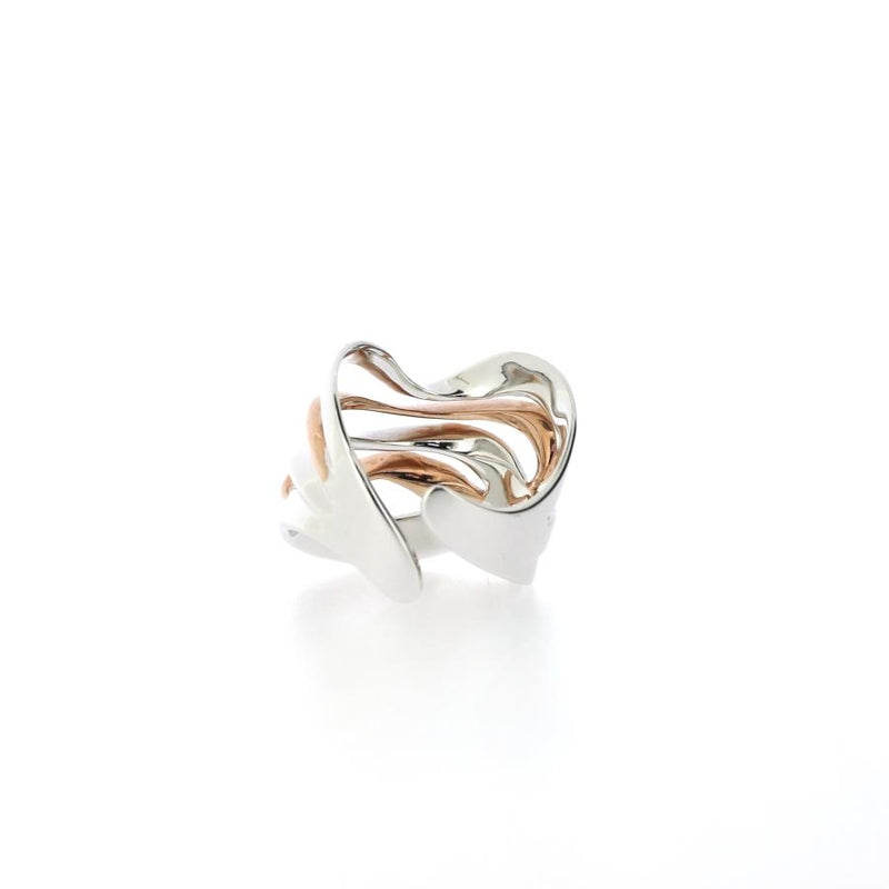 Arabesque Rose Gilded Ring (Adjustable)