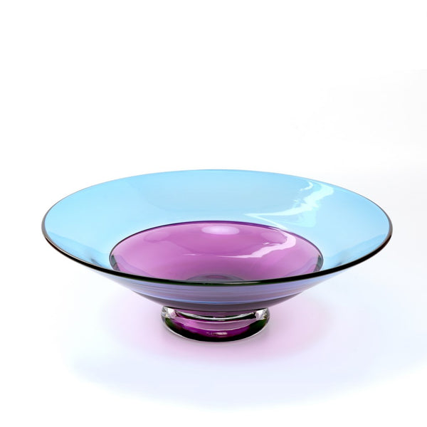 Azur English Art Glass Incalmo Bowl