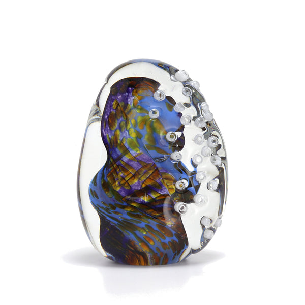 Shoreline English Art Glass Paperweight (Blue)