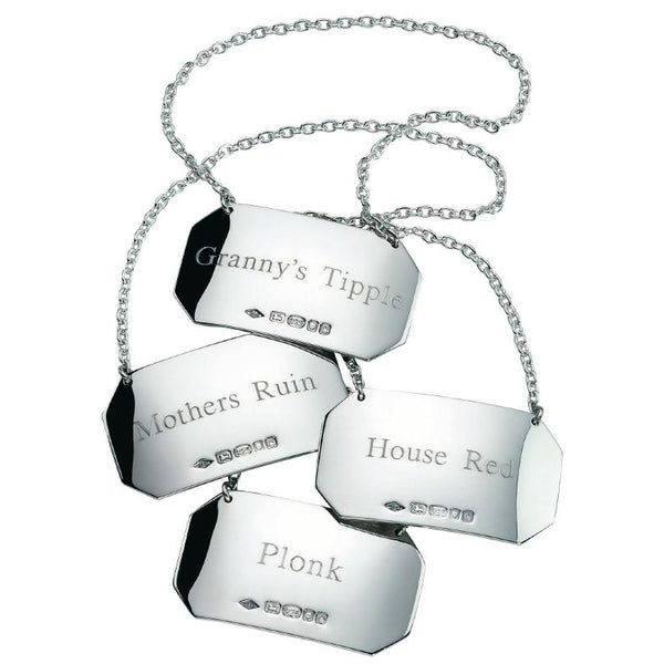 Silver Decanter Label (Single) - with a difference