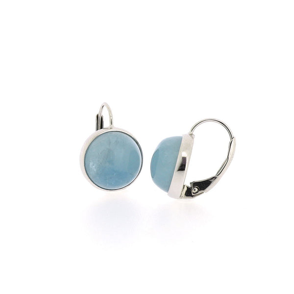 Emily Aquamarine Cabochon Earrings