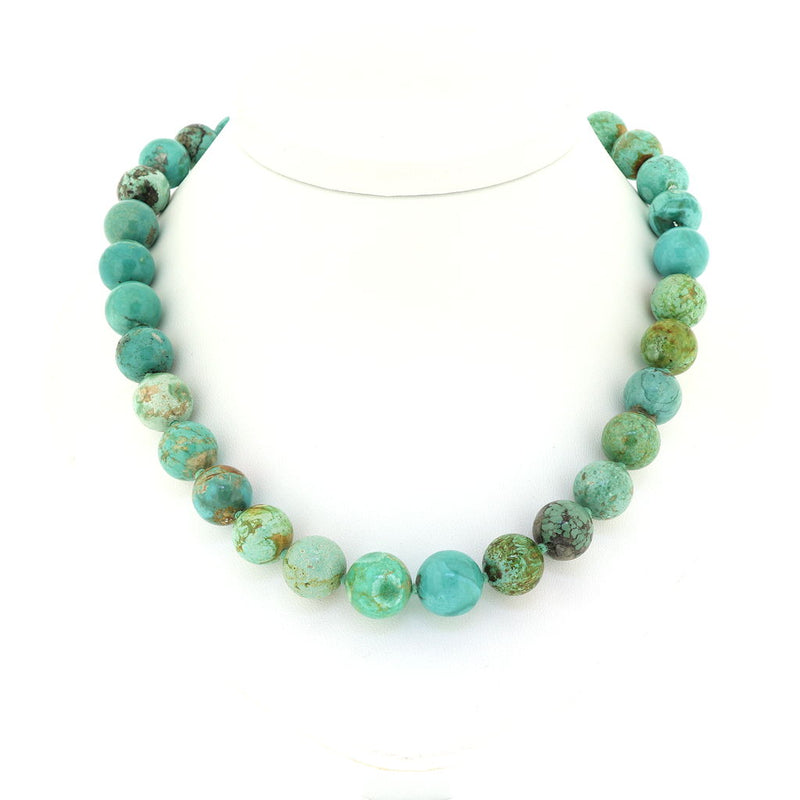 R192 Mongolian Turquoise Necklace 11mm to 13mm SAMPLE