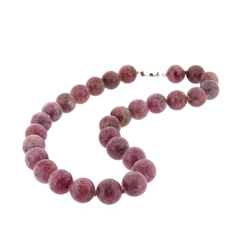 R198 Natural Pink Tourmaline Necklace SAMPLE