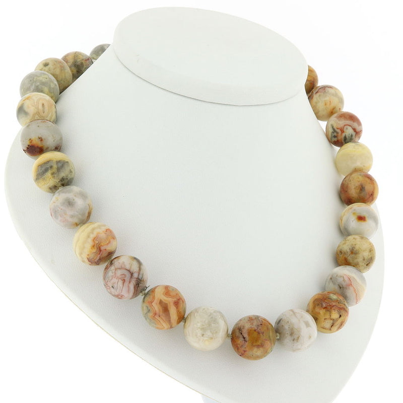 R220 Crazy Lace Agate Necklace SAMPLE