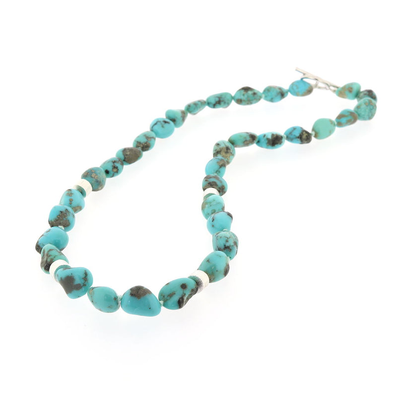 R227 Campitos Turquoise Nugget Necklace SAMPLE