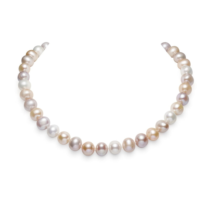 Aurora Multicolour 11mm to 12mm Pearl Necklace